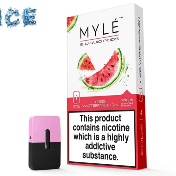 MYLE Iced Watermelon Pod pack of 4