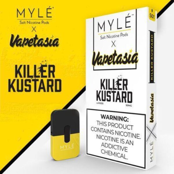 MYLE Pods: Best MYLE Pods VAPETASIA Killer Kustard | Pack of 4 - FREE Shipping