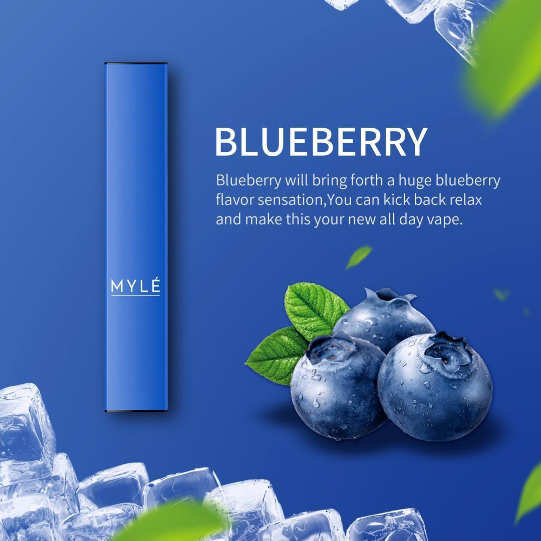 MYLE DISPOSABLE DEVICE BLUEBERRY NEW