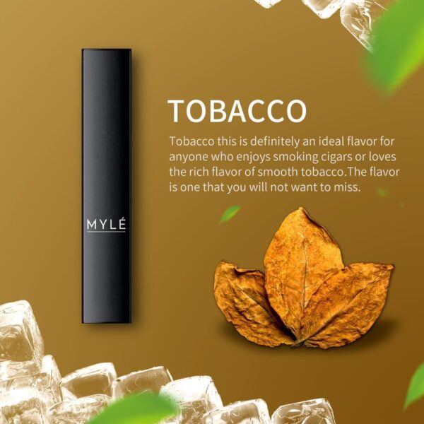 MYLE DISPOSABLE DEVICE TOBACCO NEW