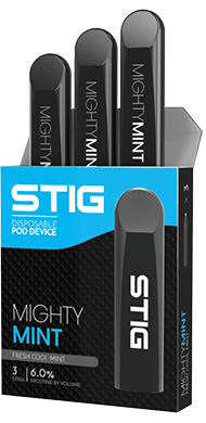 STIG Vape: Best STIG Mighty Mint Disposable Pod by VGOD