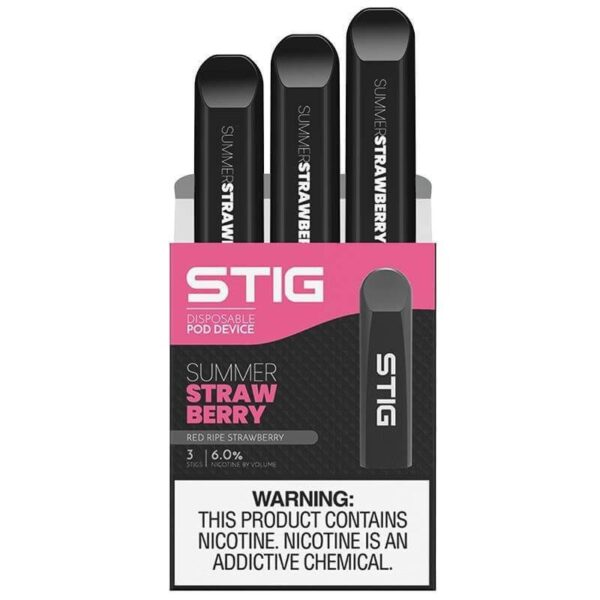Pro STIG Summer Strawberry: Best STIG Disposable Starter Kit by VGOD