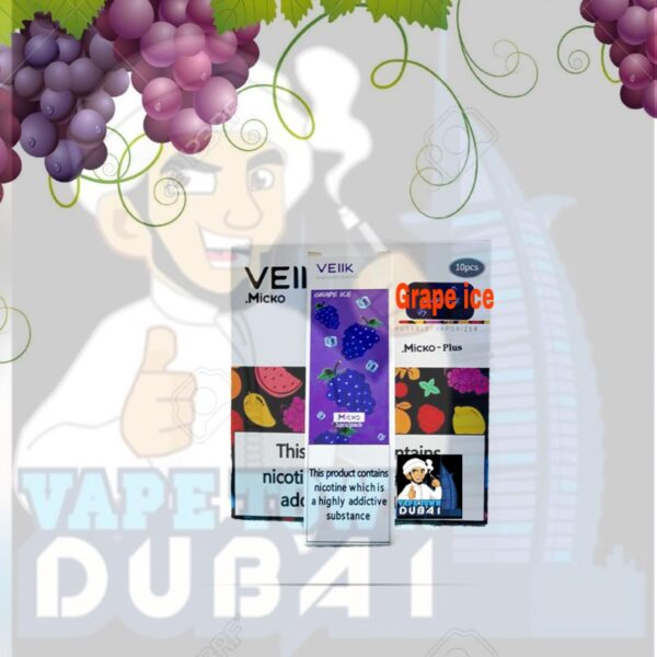 Micko Plus Grape ICE disposable vaporizer by veiik VapeUAE